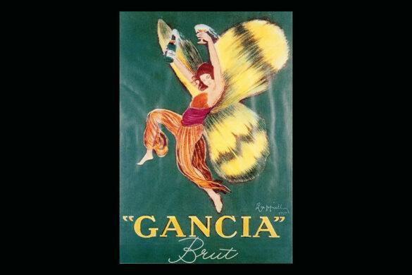 """La vignetta riproduce, un manifesto d'epoca del 1922 denominato """"Donna Farfalla""""."""